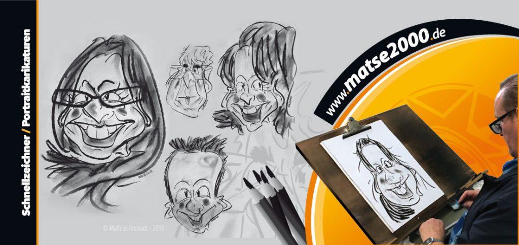 Schnellzeichner Portraitkarikaturen
