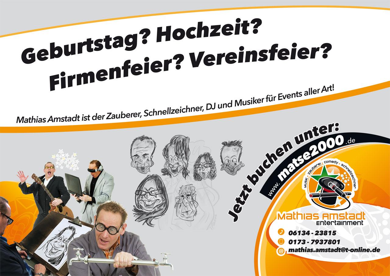 Unterhaltungskünstler  Mathias Amstadt