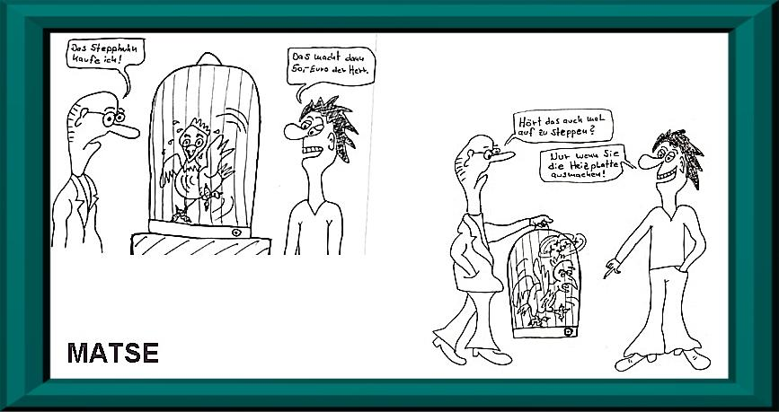 MATSE Karikatur Huhn