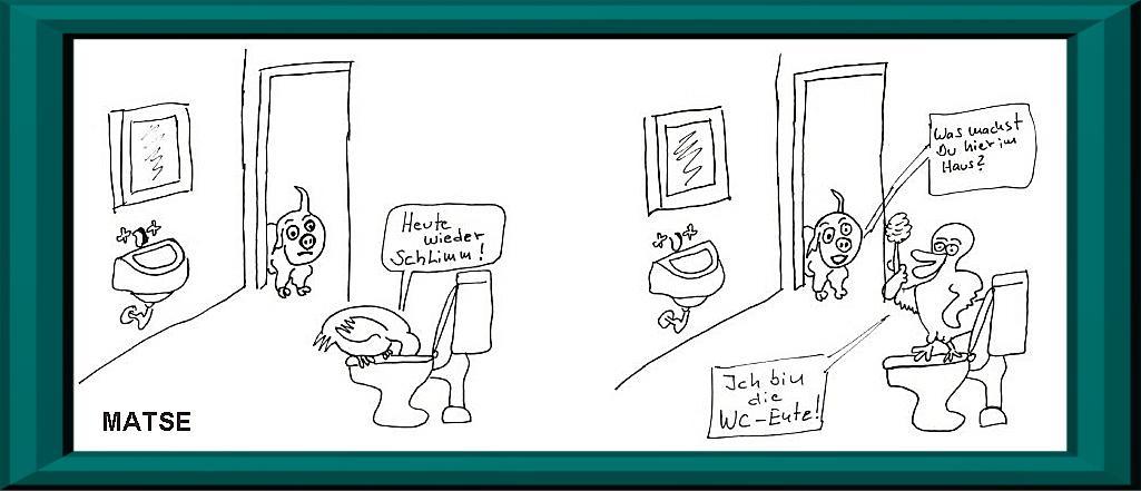 MATSE Karikatur WC-Ente