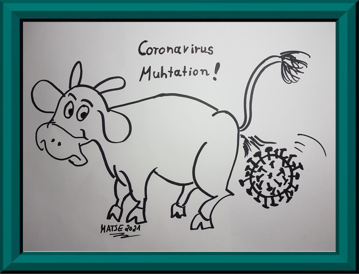 MATSE Karikatur Virusmutation