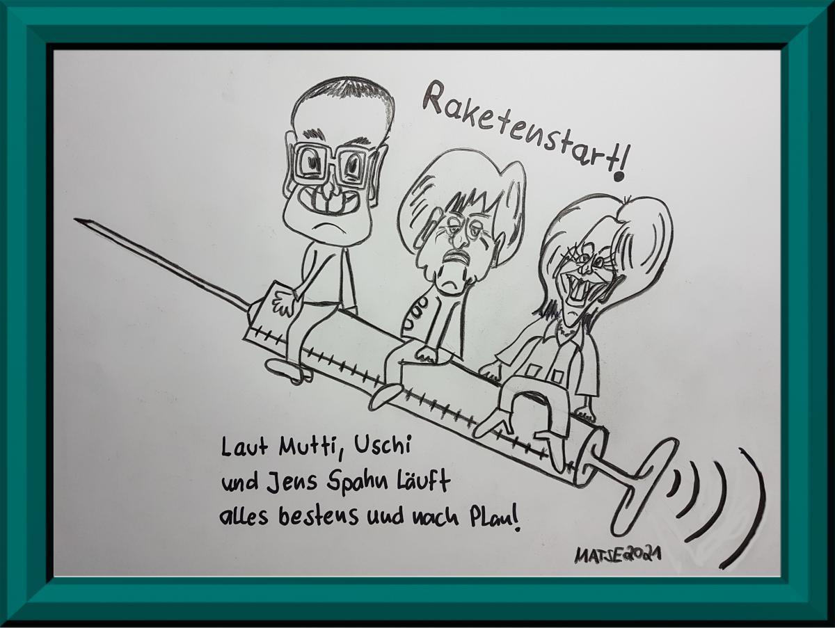 MATSE Karikatur Corona-Impfstart